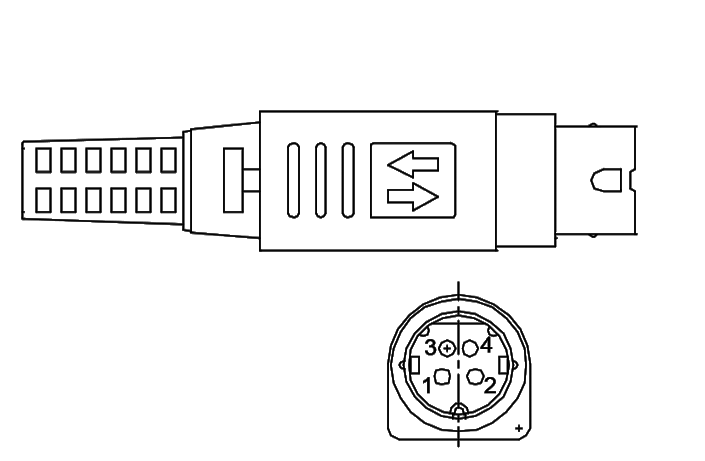 Power Din locking connector cable assemblies and